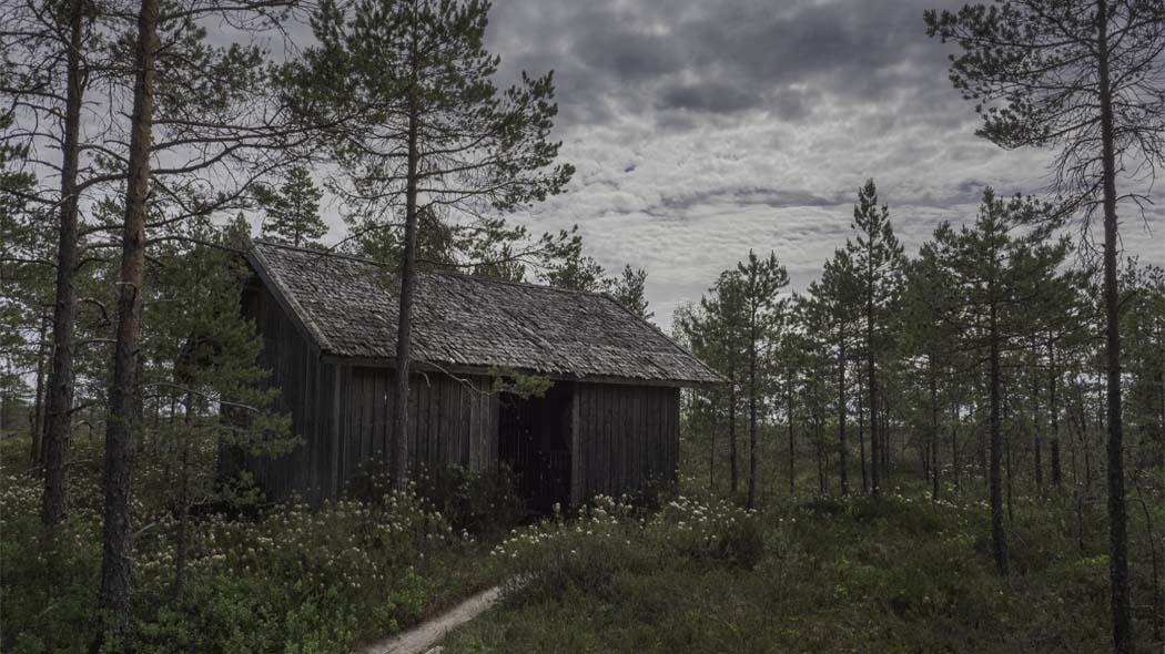 Turvesuulissa esitellään turpeennoston historiaa. Kuva: Tuija Warén.